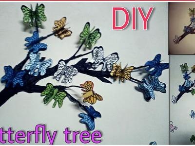 DIY Tree Branch + 3D Butterflies In Room Decor | Craft World