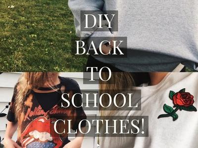 DIY TRENDY BACK TO SCHOOL CLOTHES