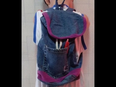 DIY Upcycled Denim  5 Minute Craft Video - DIY OLD JEANS RECYCLED INTO A BAG