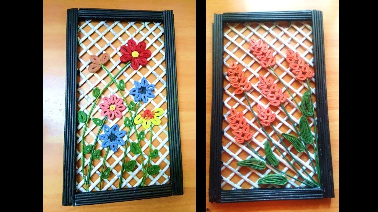 DIY Wall decor frame, Newspaper craft