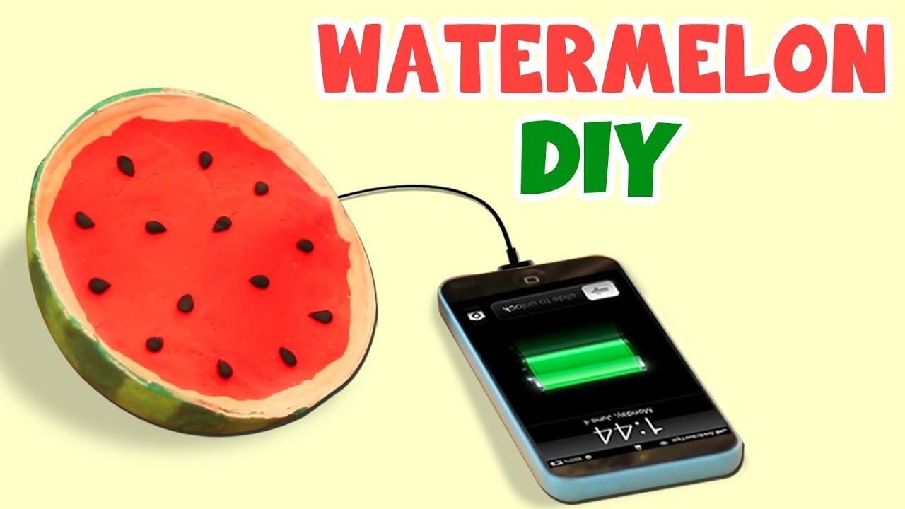 DIY Watermelon Stress Soap and Watermelon Charger | Back To School Craft Videos & Room Decor