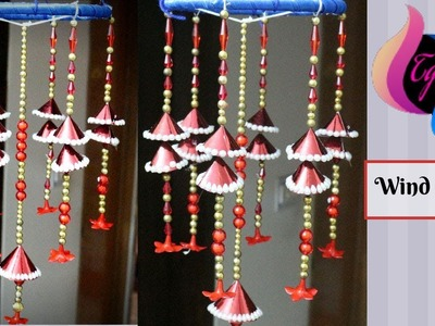 DIY Wind Chime - Wall hanging craft ideas - Decoration items made at home