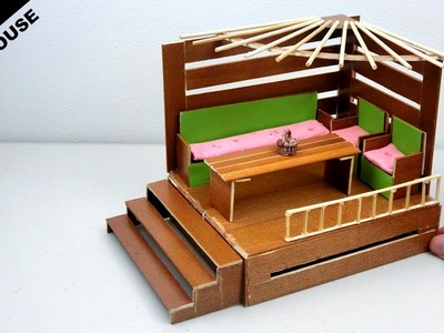 DIY Wooden Dollhouse (Living room) #10 | Easy & Quick Craft ideas