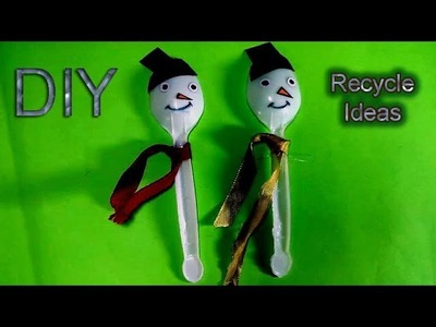 Doll with plastic spoon craft-Homemade doll -DIY Recycled ideas by TrendyCraft