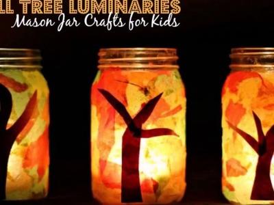 Fall Luminaries Mason Jar Craft! Easy DIY Lanterns!