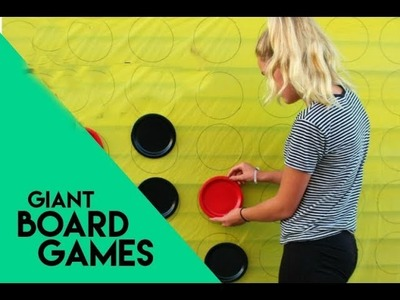 How to craft up giant yard games