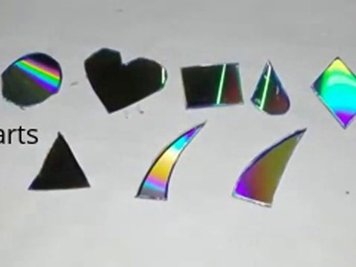 How to cut  CD.DVD Easily for craft.simple method for cuttind CD.DVD