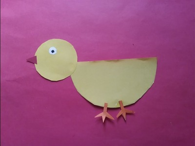 How to make a duck with paper, origami, preschool activity easy craft work for kids,