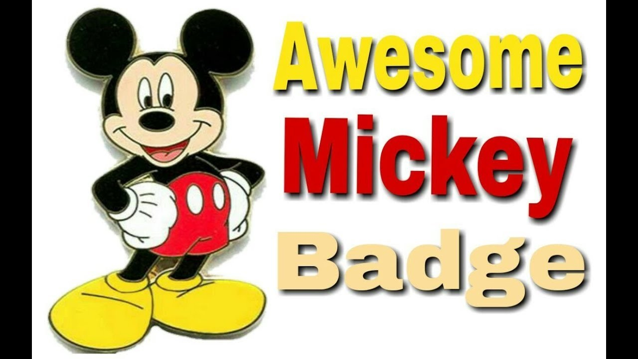 How to make a Mickey Mouse Badge in just 5 minutes craft