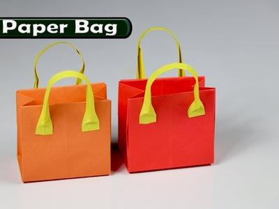 How to make a paper Bag - Easy Origami Bag - DIY paper craft