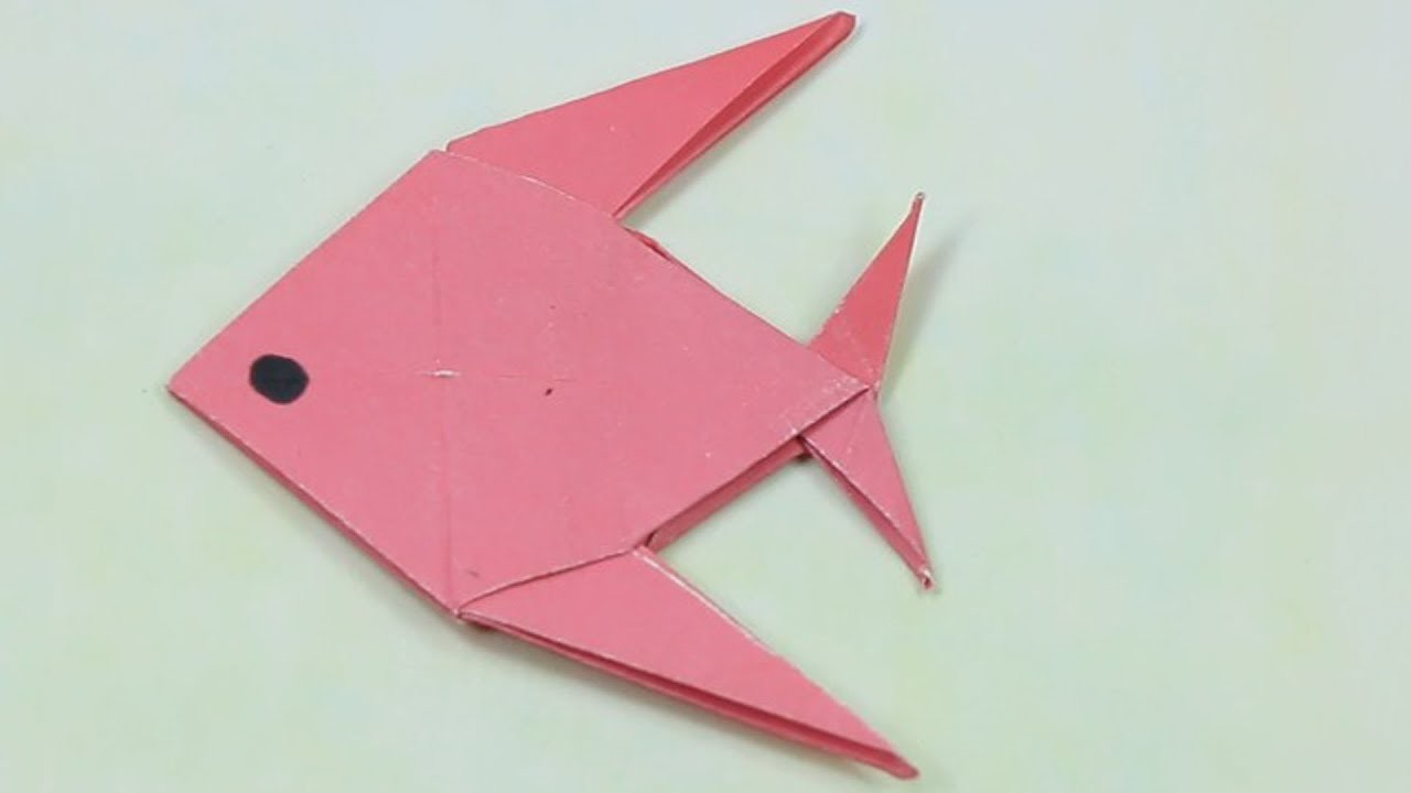 How to make a paper fish easy tutorialorigami paper for Craft work with paper folding