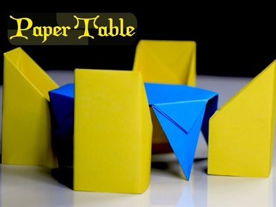 How to Make a Paper Table - easy origami table - DIY paper craft