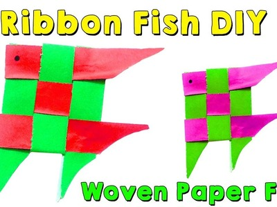 How to make an Origami Cute Paper Fish Craft, Paper Ribbon Fish Craft
