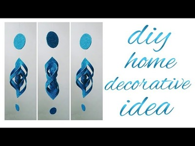 How to make DIY WIND CHIMES CRAFT with glitter foam sheet | HOME DECOR in easy way | CREATIVE SOUL