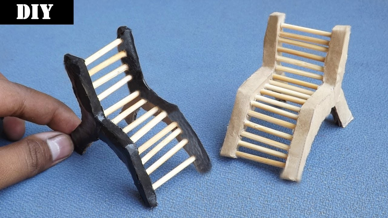 How to make Miniature Lounge Chairs | Easy Cardboard Craft