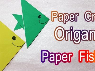 How to make Origami Paper Fish - Craft Tutorials - Paper Crafts for Kids - DIY - Origami Tutorials