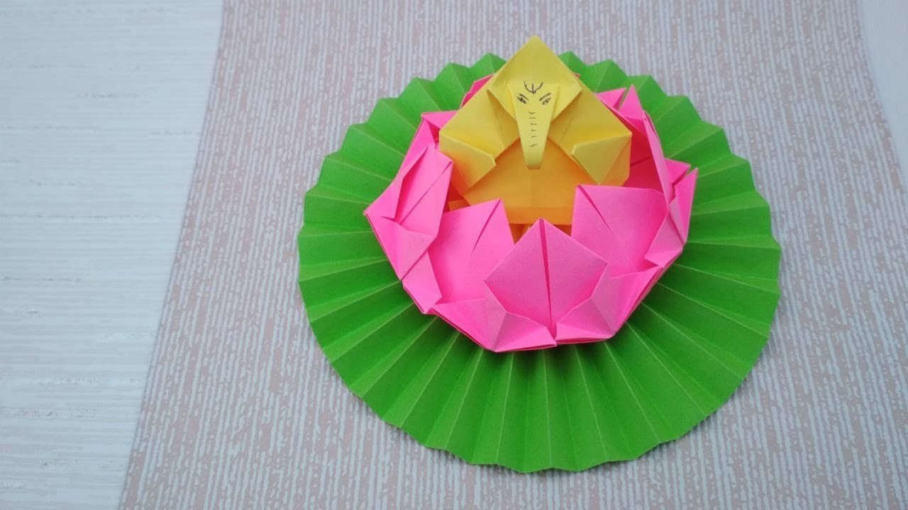 How To Make Paper Lotus Throne For Ganesh
