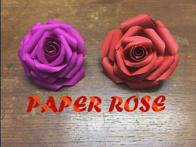 How to make  Paper Rose Flower. Easy craft
