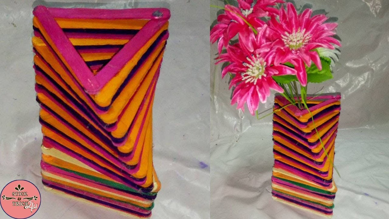 How To Make Popsicle Stick Home Decor Diy Popsicle Stick Craft
