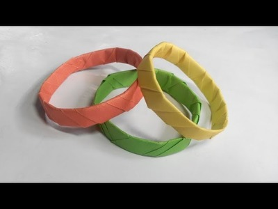 How to Make Simple & Easy Paper Bangle -DIY Paper Craft Ideas #18