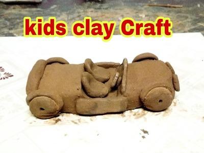 Kids clay Craft | DIY clay car