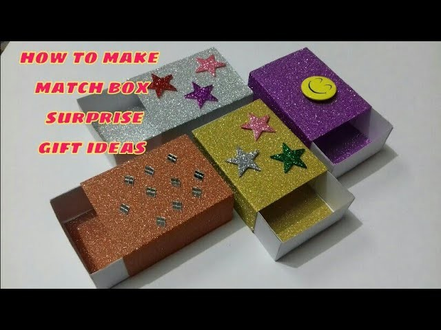 Match Box Craft Easy Match Box Gift Ideas Waste Material