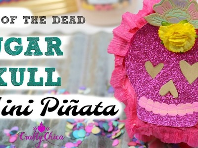 Mini Sugar Skull Pinata DIY || DAY OF THE DEAD CRAFT