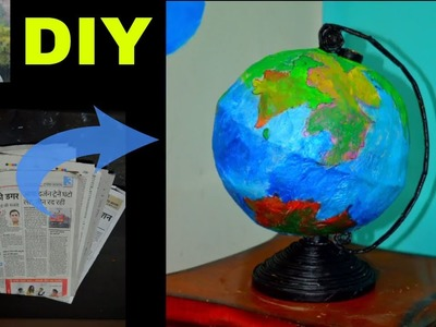 Newspaper Diy Craft : How To Make Mini Globe Using Newspaper | Newspaper Craft