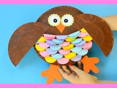 Owl Paper Plate Craft for Kids