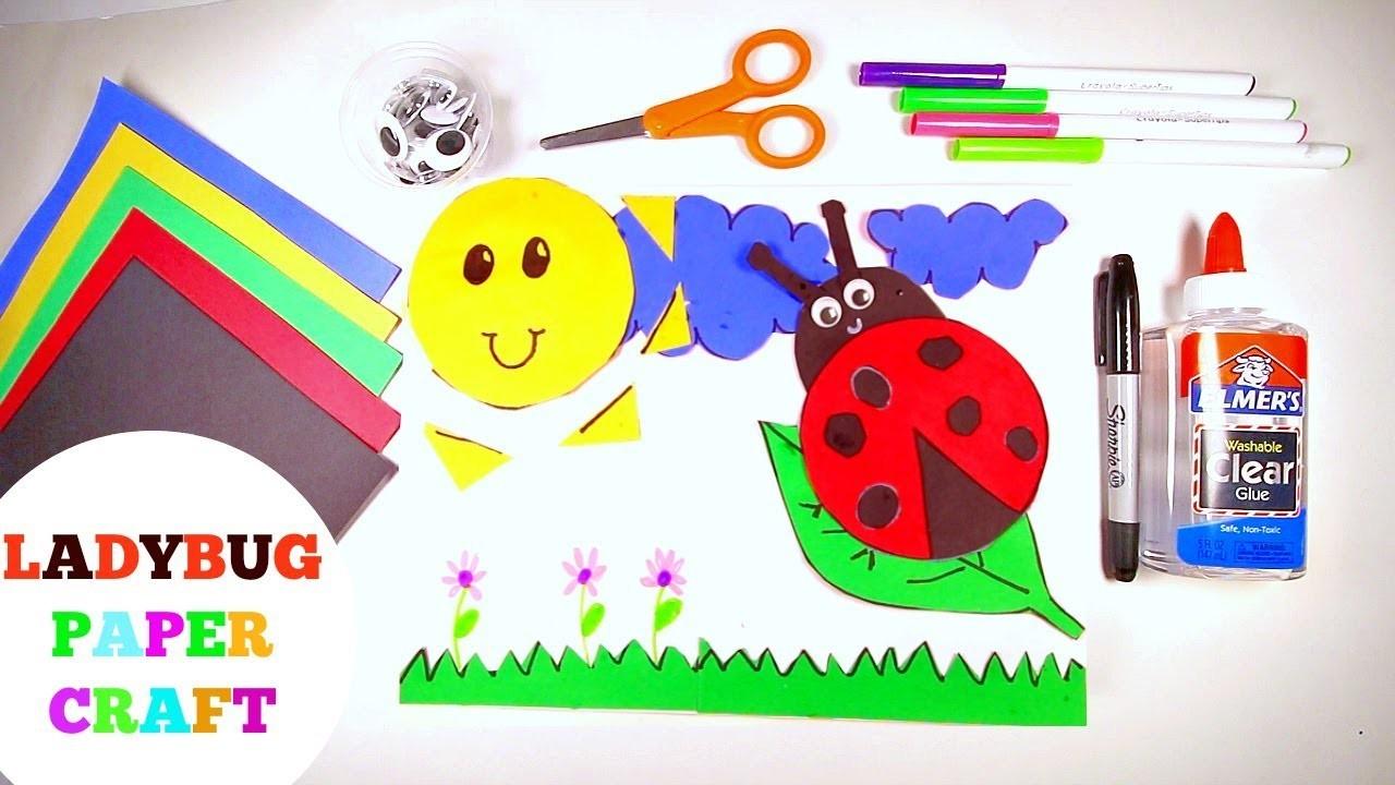 Paper crafts for kids easy ladybug crafts for for Diy paper crafts for kids