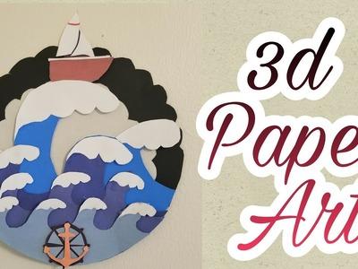 Paper cut craft | 3d paper art | DIY wall hanging @ArtistInU