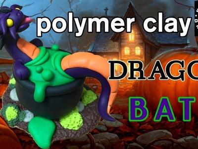 Polymer Clay Dragon | Halloween Craft | Halloween Diorama | Cauldron Bath
