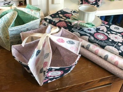 Quick and Easy Fabric Organizer | Use your charm pack!