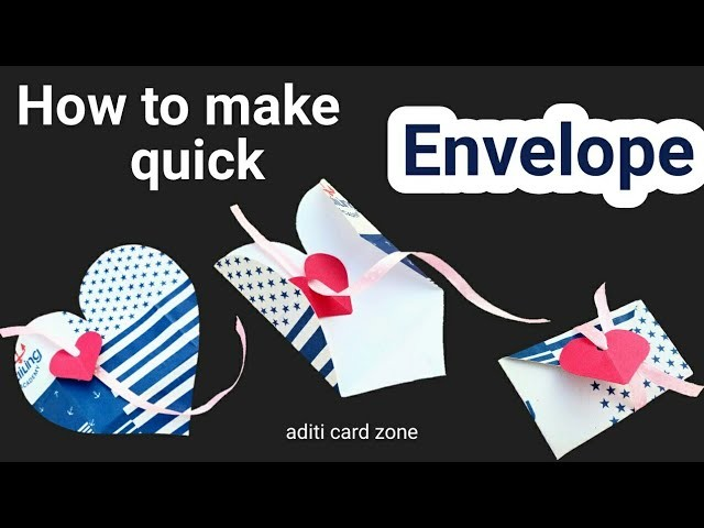 Quick Craft | How to make an envelope | Diy envelope card |
