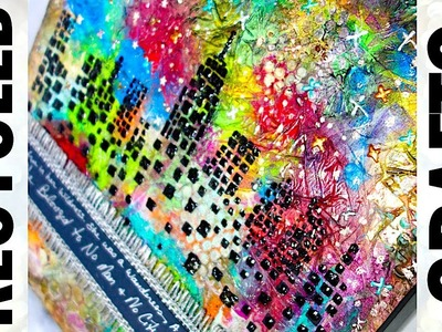Recycled Craft Ideas || Plastic Wrap Crafts || Reuse Old Canvas Art || Cityscape Skyline
