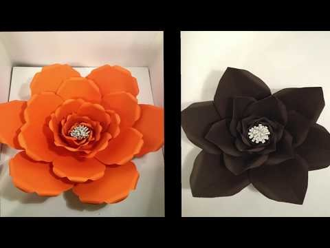 SHORT VIDEO DIY PAPER FLOWERS (USING ANYONE CAN CRAFT TEMPLATES)