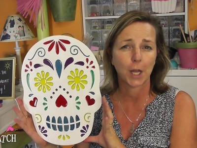 Sugar Skull Decoration!  Resin Craft ~ Halloween DIY ~ Craft Klatch