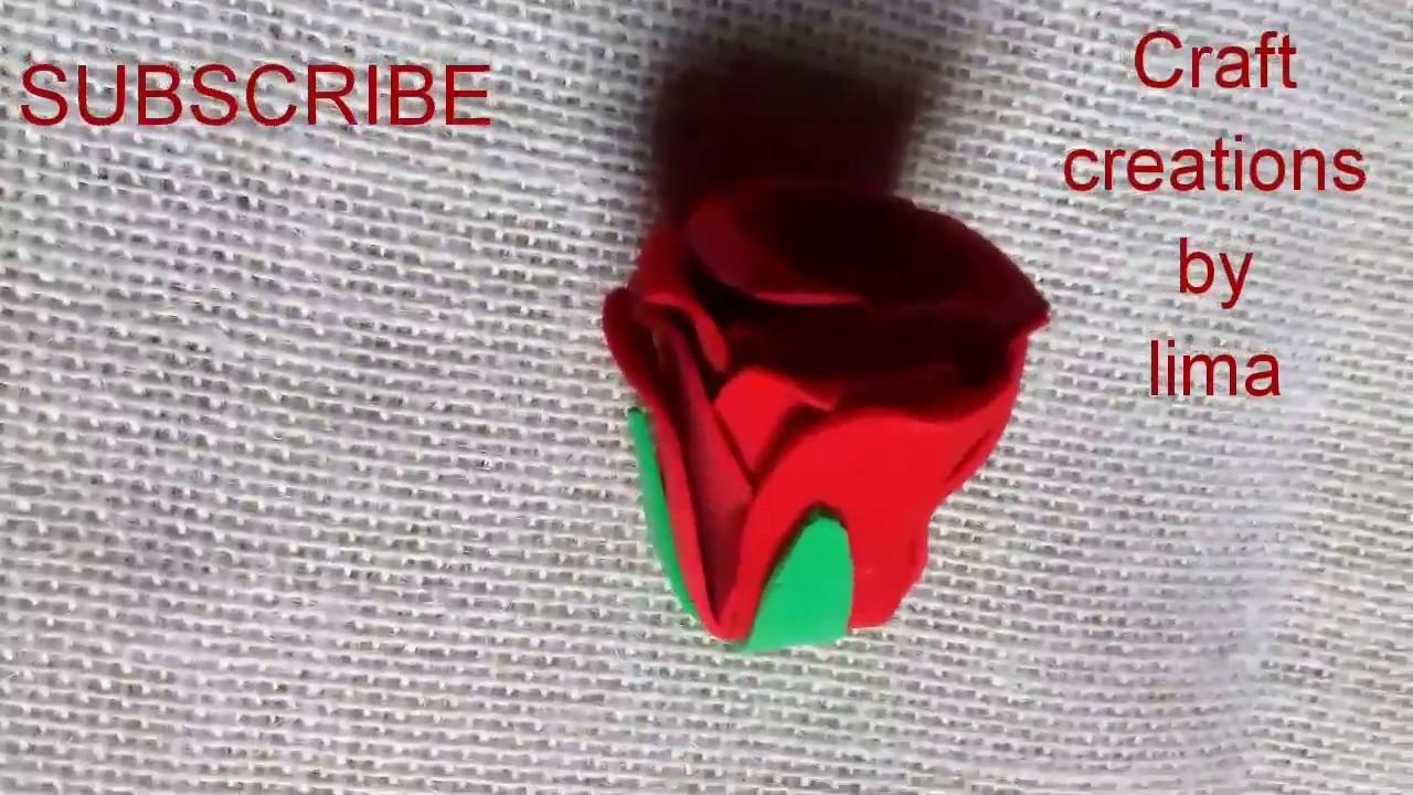 ফোম দিয়ে গোলাপফুল||রাবারের ফুল||গোলাপ||How to make eva rose flower||Diy craft