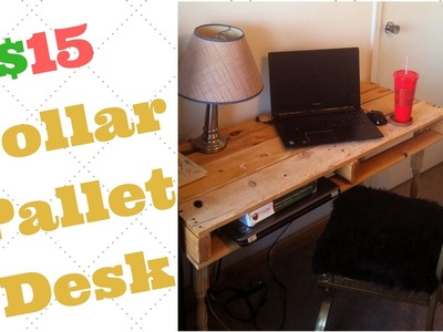 $15 Dollar Pallet Desk | DIY