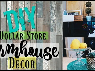 3 DIY Dollar Store Farmhouse Decor | Shabby Chic Home Decor Ideas