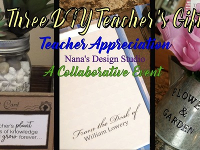 ???????????? 3 DIY Teacher's Gifts: Collaboration End of Year Teacher's Gifts:  Thanks Teachers