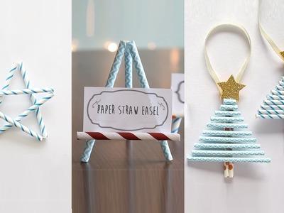 3 Easy Paper Straw Crafts