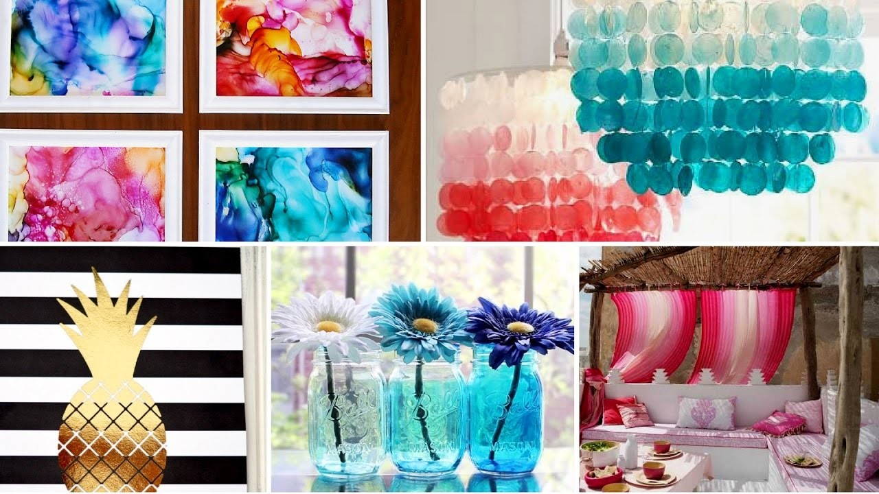 40 diy easy summer room decor tumblr inspired 2017 for Room decor ideas handmade
