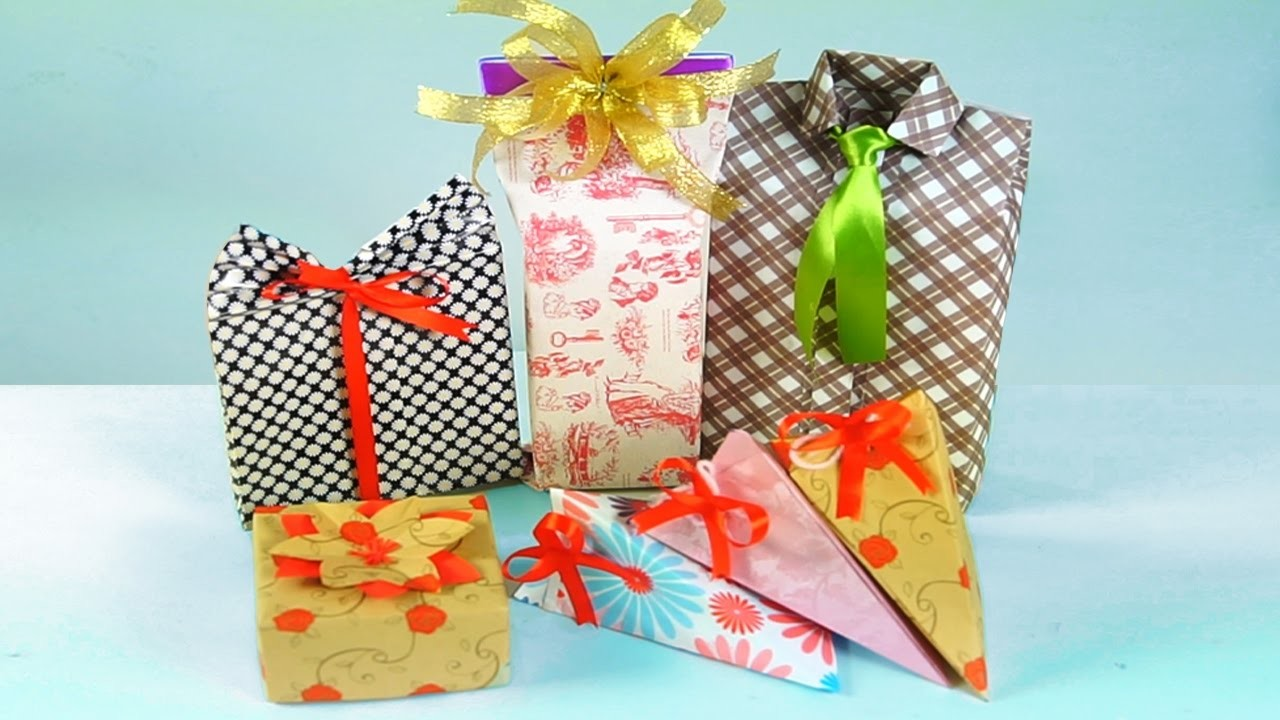 5 DIY GIFT WRAPPING IDEAS! DIY Projects For Presents