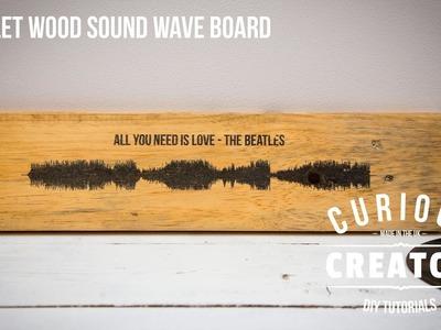 #5 Pallet Wood Sound Wave - DIY Curious Creator