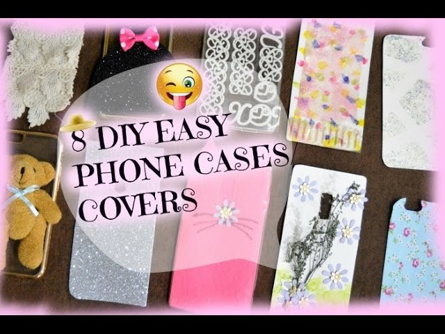 8 ridiculously easy diy phone cases with stuff lying for Diy crafts with things around the house