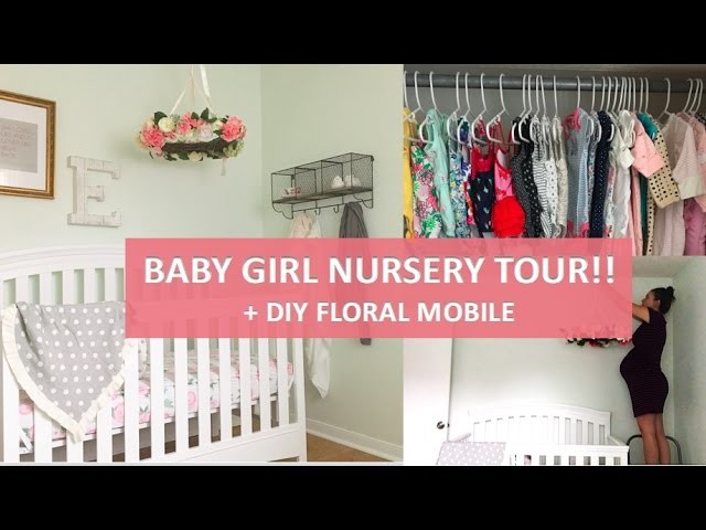 My Baby Girl S Nursery: BABY GIRL NURSERY TOUR, DIY Floral Mobile