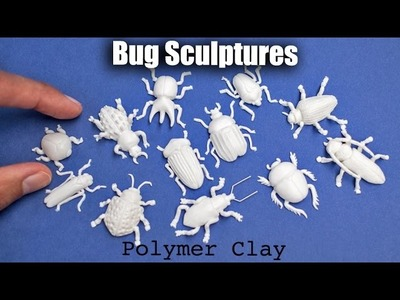 Bug. Insect Sculptures with Polymer Clay. Speed Sculpting