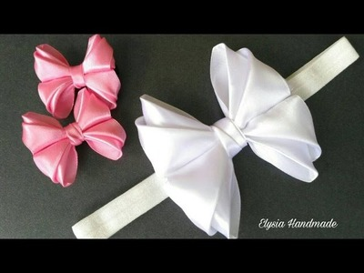 Cute Bowtie Headband-Hairclip for Baby | DIY by Elysia Handmade