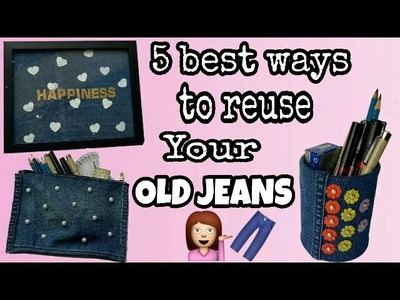 DIY || Best Ways to reuse Your Old unused Jeans or Denims???? || Ways to Upcycle Old Jeans